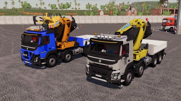 Мод «Volvo FMX 8x4 Crane Truck» для Farming Simulator 2019
