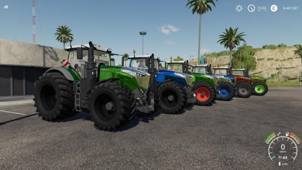 Мод «Fendt 1000 Vario by Alex Blue» для Farming Simulator 2019