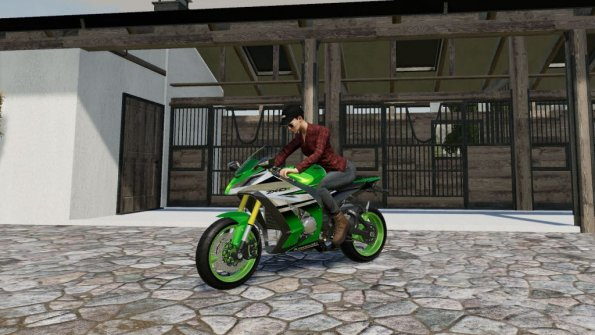 Мод «Kawasaki Ninja ZX-10R» для Farming Simulator 2019