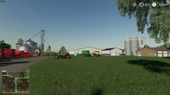 Карта «Bates Cass County USA» для Farming Simulator 2019