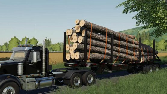 Мод «Manac 45FT Log Trailer» для Farming Simulator 2019