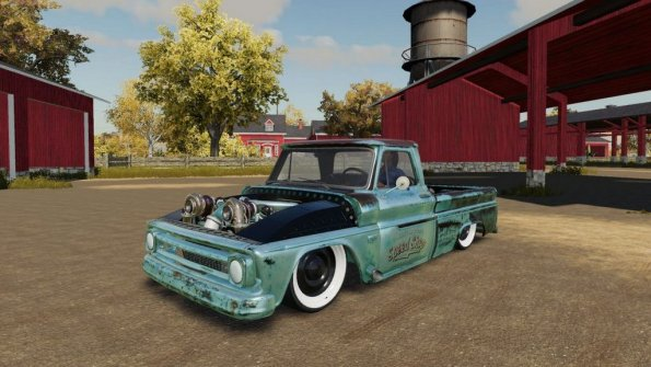 Мод «Chevrolet C10 1966 Twin Turbo» для Farming Simulator 2019