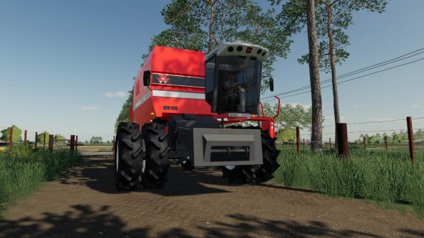 Мод «Massey Ferguson 5650 And MF Cutter» для Farming Simulator 2019
