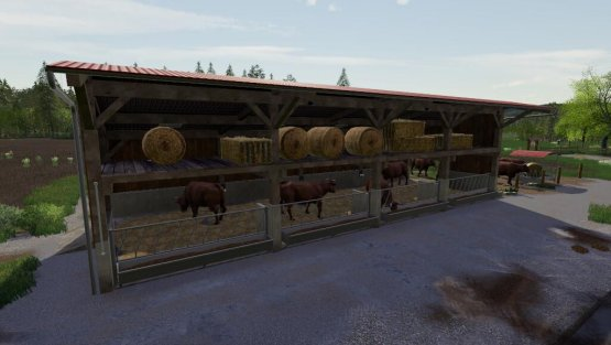 Мод «Cattle Barn With Strawstage» для Farming Simulator 2019