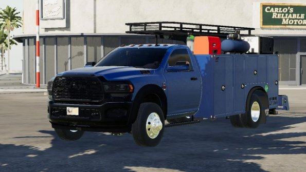 Мод «2020 Dodge Ram 5500 Service Truck» для Farming Simulator 2019