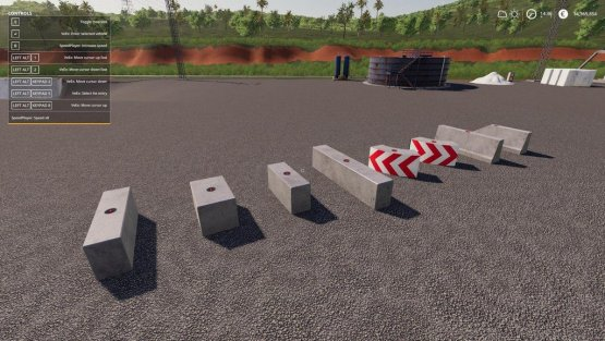 Мод «Concrete Block Pack» для Farming Simulator 2019