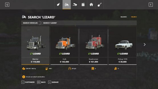 Мод «ShopSearch» для Farming Simulator 2019